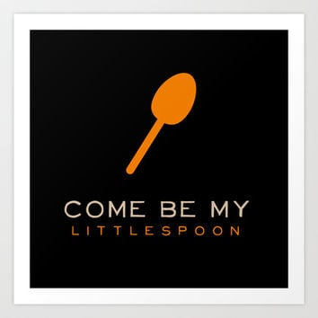 Little Spoon - Orange is the New Black Art Print by Kirstenariel