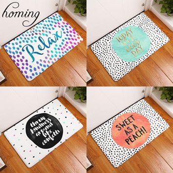 Homing New Arrive Door Mats for Entrance Door Character Colorful Words Pattern Carpets Living Room Dust Proof Mats Home Decor