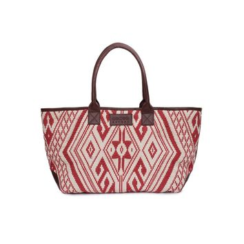 Phive Rivers Women's Jacquard Fabric Tote Bag -PRU1354