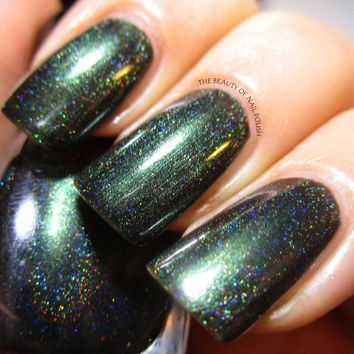 Black Forest - Deep Forest Green Holographic Nail Polish