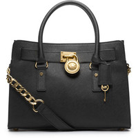 Hamilton East West Leather Satchel Bag | Lord and Taylor