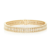 Baguette And Round Bezel Stacked Eternity Bracelet | Moda Operandi