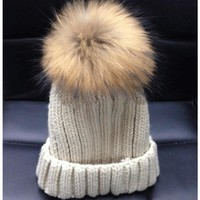 Trending Fashion HOT Women's Winter Warm Crochet Fur Knitting Hats Beret Ski Beanie Ball Caps