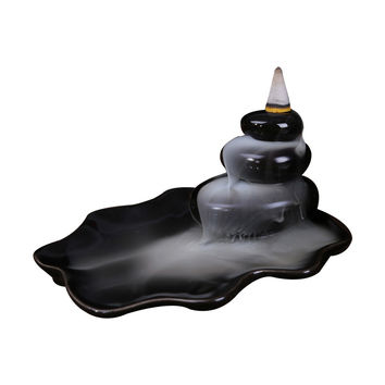 Black Glazed Incense Burners