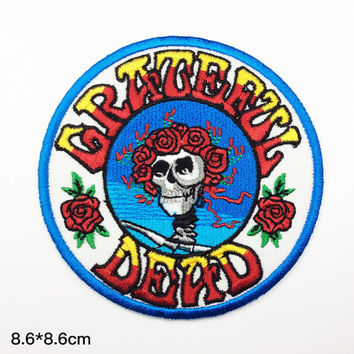 band patches Grateful Dead Embroidery classic rock patch Embroidered patches term logo iron on letters iron on patch sew on patch(A133)