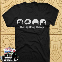 Big bang theory hairstyles TShirt Tee Shirts Black and White For Men and Women Unisex Size