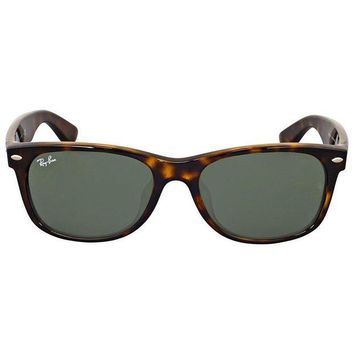 Kalete Ray-Ban New Wayfarer Classic Alternate Fit Green Sunglasses