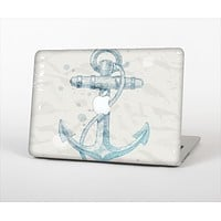 "The Vintage White and Blue Anchor Illustration Skin Set for the Apple MacBook Pro 15"" with Retina Display"