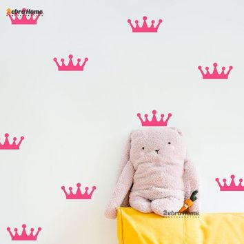 DIY Removable, Small Crown Wall Stickers 16 Different Colors