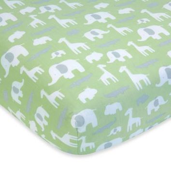 Wendy Bellissimo™ Mix & Match Safari Fitted Crib Sheet in Sage