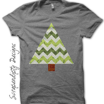 Spring Iron on Shirt PDF - Chevron Tree Iron on Transfer / DIY  Girls Tree Shirt Design / Kids Boys Clothing Tops / Printables AP119