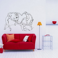 Wall Art inspired by Henri Matisse The Dance vinyl wall decal for your livingroom and bedroom wall art decor