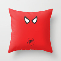 Spider-Man Minimalist Throw Pillow by Adrian Mentus | Society6