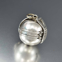 Taxco Silver Fold Out Photo Accordian Mexican Ball Locket