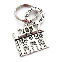 House Keychain, New Home 2017, Welcome Neighbours, Congratulations On Your New Home, Housewarming Present,  Realtor Gift Ideas, Gift for Him