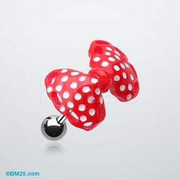 Polka Dots Bow Tie Cartilage Earring