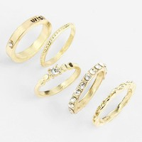 Carole Stackable Rings (Set of 5) | Nordstrom