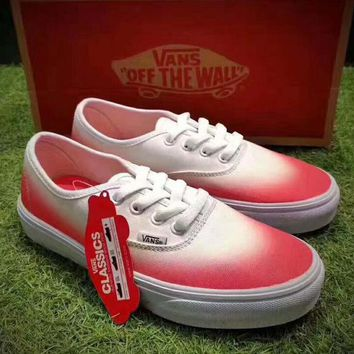 Gotopfashion Vans Authentic ¡°Ombre Pink True White gradient flat shoes H-CSXY""