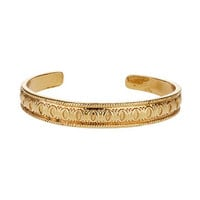 Freedom Found Engraved Bangle - Gold