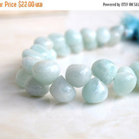 49% Off Sale Amazonite Gemstone Smooth Onion Briolette 9mm 18 beads