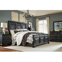 86900-6PC-NS Passages Queen Bed, Dresser, Mirror, Nightstand