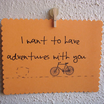 "Anniversary Card ""I Want to Have Adventures With You"" by CraftColorfully"