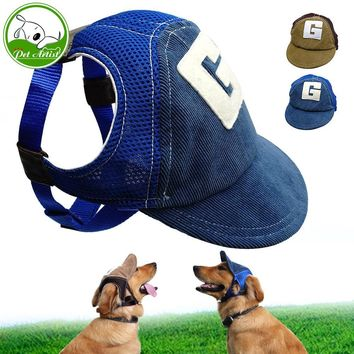 Breathable Dog Hats For Pets Cute Summer Baseball Sun Cap With Ear Holes For Small Chihuahua Outdoor Accessories Hiking Sports