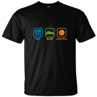 EAT SLEEP BASKETBALL - Ultracotton T-Shirt