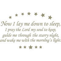 WallPops Wall Decal - Wall Wish - Now I Lay me Down to Sleep - Pewter