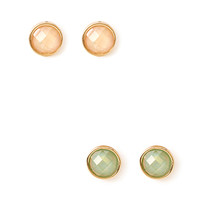 FOREVER 21 Minimal Moment Stud Set Gold/Peach One