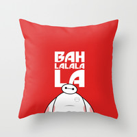 Big Hero 6 Six - Baymax Ba la la la la Throw Pillow by Snarky Shark