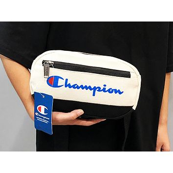 Champion sells patchwork color printed Fanny packs for fashionable casual ladies with an inclined cross Fanny pack White