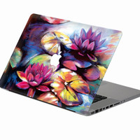 "elegant lotus flower  Laptop Decal Sticker Skin For MacBook Air Pro Retina 11"" 13"" 15"" Vinyl Mac Case Body Full Cover Skin"