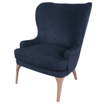 Christion Fabric Accent Chair, Denim Slate Blue