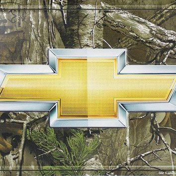 Chevrolet Bowtie on Realtree Metal License Plate