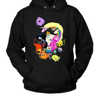 DCCK7H3 Adventure Time Characters Hoodie Two Sided