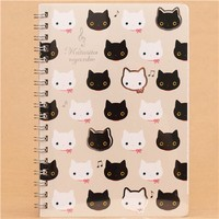 beige Kutusita Nyanko cat ring binder notebook - Memo Pads - Stationery