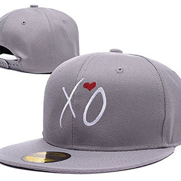 BARONL XO The Weeknd Adjustable Snapback Embroidery Hats Caps - Grey