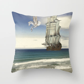 ...As on  a Darkling Plain' Throw Pillow by anipani
