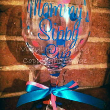 Mommy's Sippy Cup-Personalized 20oz Wine Glass