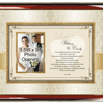 Romantic Love Poem Gift Picture Frame