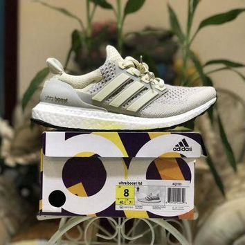 DCCK Adidas Ultra Boost Ltd AQ559 Cream Color Size US8-11.5