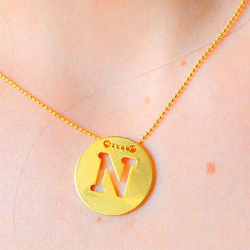 INITIAL NAME NECKLACE, birtday gift, name necklace, initial necklace, monogram necklace, name gift, personalized necklace, special necklace
