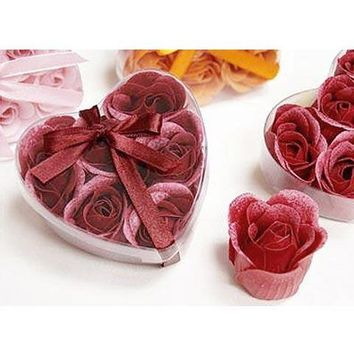 Gift - Valentine Hearts Rose Soap Petals Gift Set