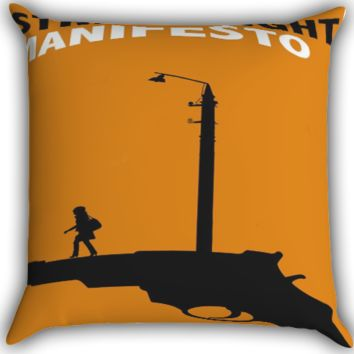 Streetlight Manifesto Girl Walking Midnight A0032 Zippered Pillows  Covers 16x16, 18x18, 20x20 Inches