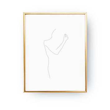 Line Female Figure, Feminine Figure, Simple Fashion, Woman Illustration, Black And White, Woman Body Art, Minimal Art, Woman Art, Sketch Art