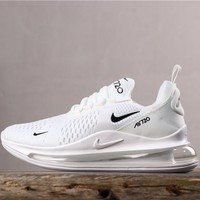 Newest Nike Air Max 720 White/ Black Running Shoes - Best Online Sale