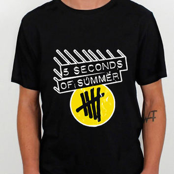 5 Second Of Summer Logo  design clothing for T Shirt Mens and T Shirt Girls