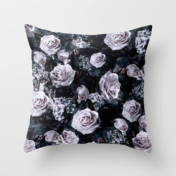 Dark Love Throw Pillow by RIZA PEKER