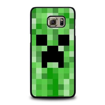 creeper minecraft 2 samsung galaxy s6 edge plus case cover  number 2
